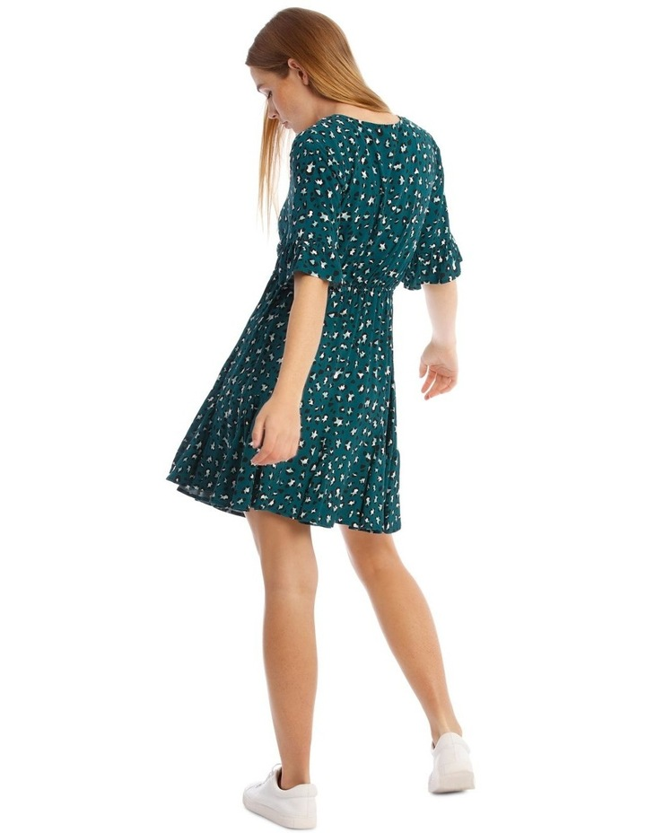 Godet Skirt Wrap Front Dress image 3