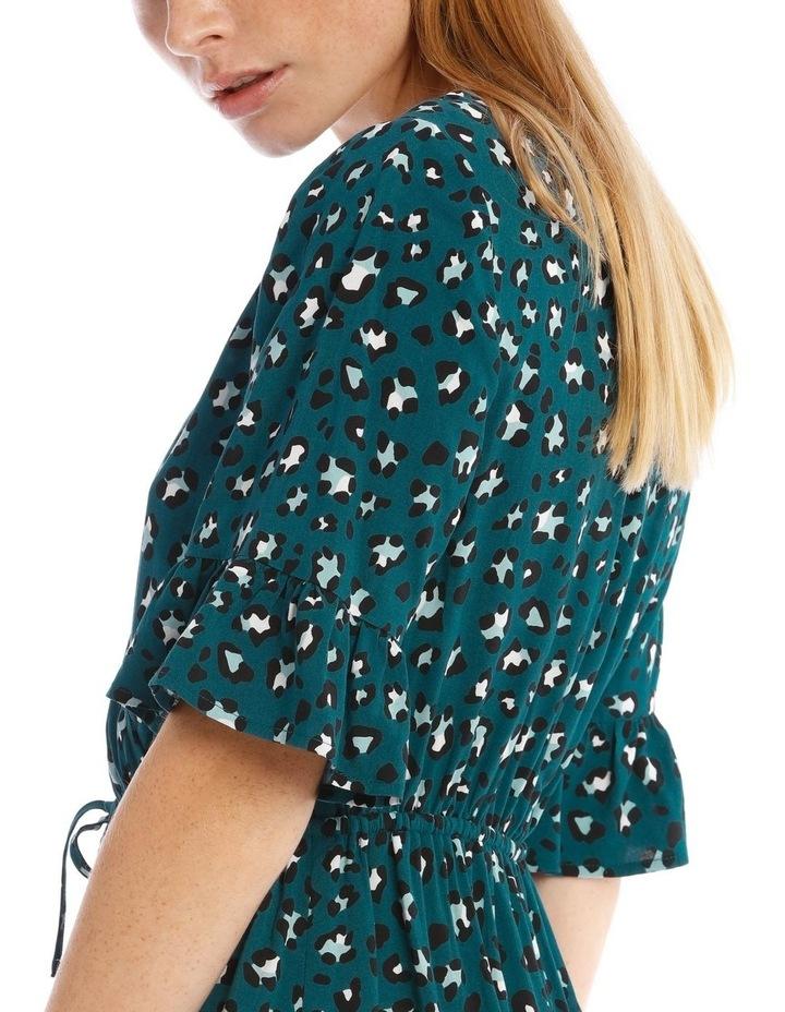 Godet Skirt Wrap Front Dress image 4