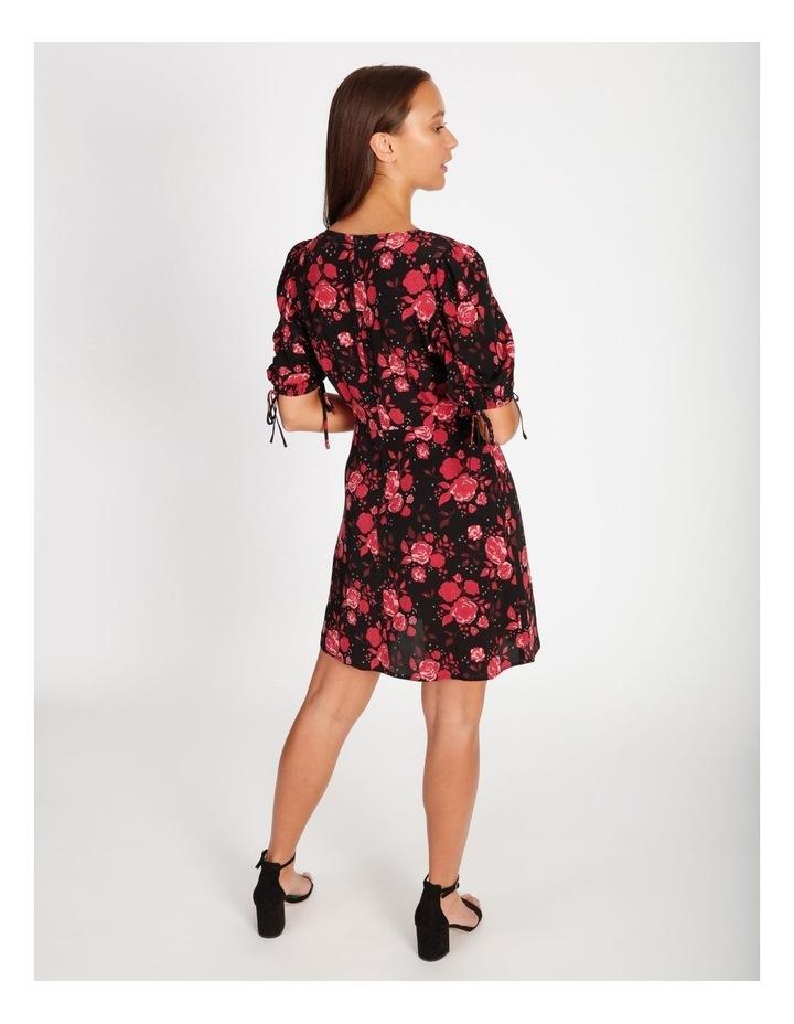 V-Neck Ruched Sleeve Dress image 3