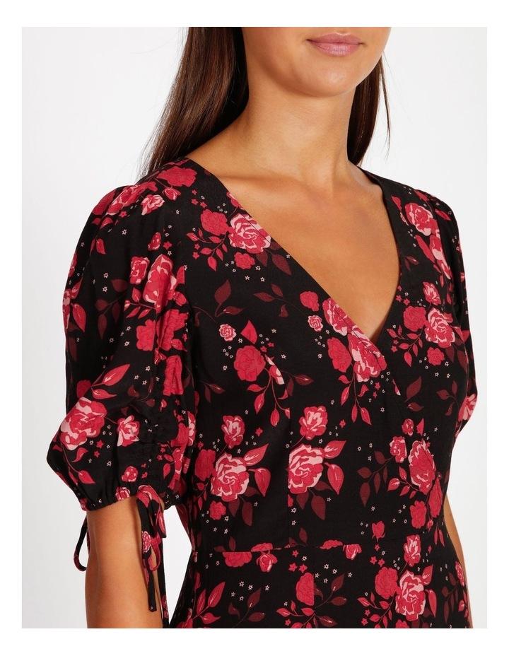 V-Neck Ruched Sleeve Dress image 4