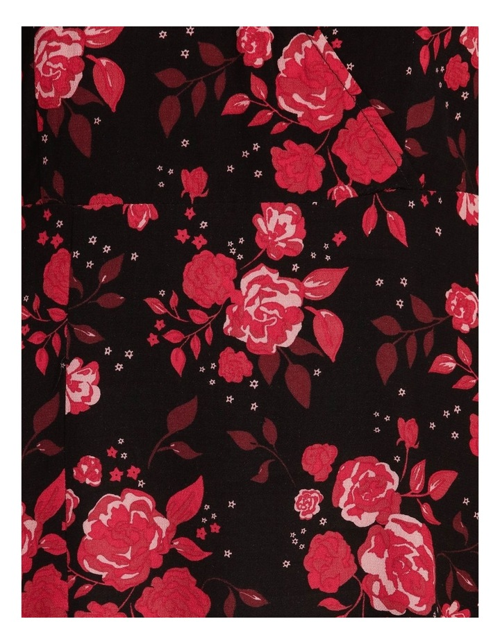 V-Neck Ruched Sleeve Dress image 5