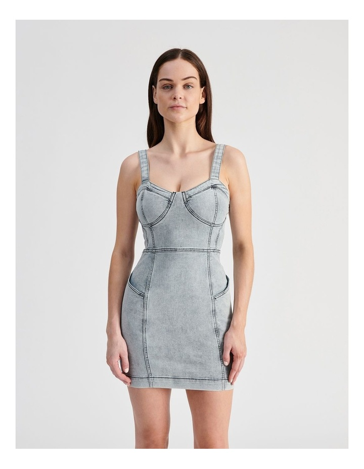 Fitted Denim Dress image 1