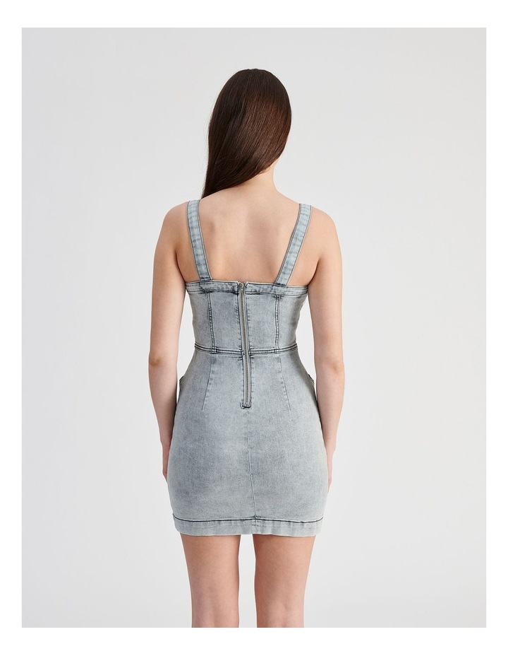 Fitted Denim Dress image 3