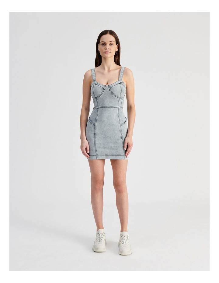 Fitted Denim Dress image 4