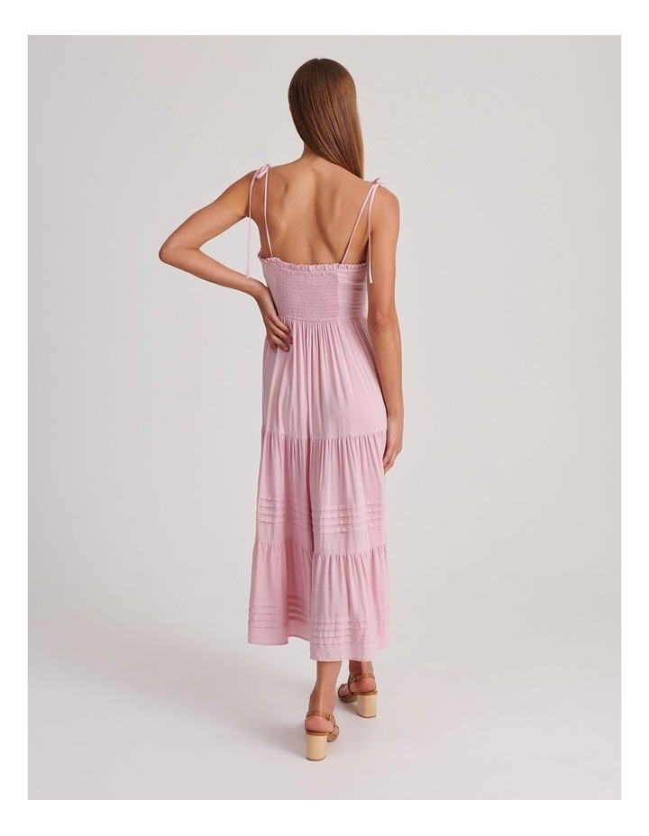 Tiered Midi Dress in Pink image 3