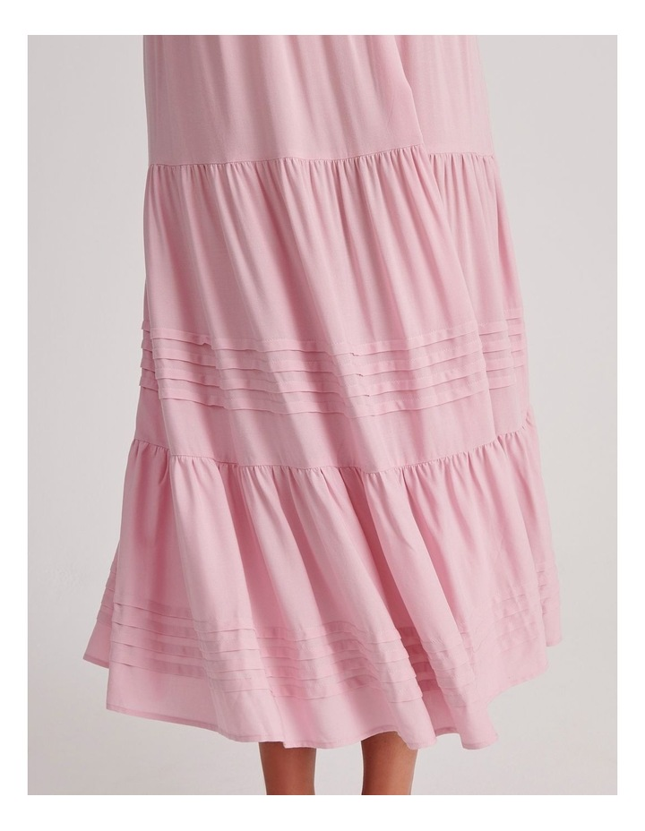 Tiered Midi Dress in Pink image 4