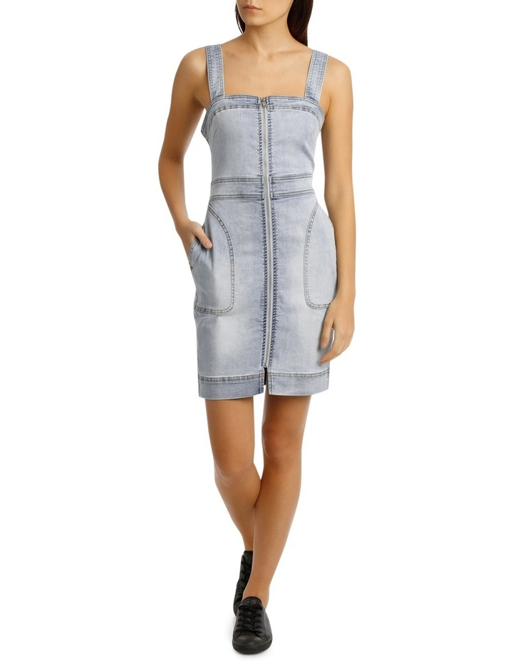 Alexis Fitted Denim Dress image 1
