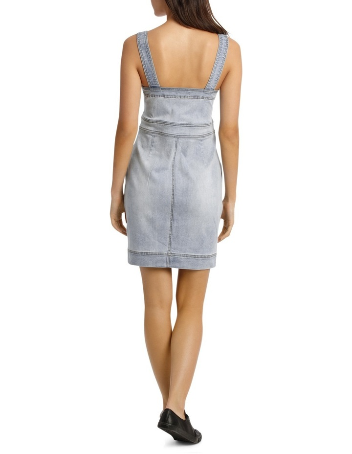 Alexis Fitted Denim Dress image 3