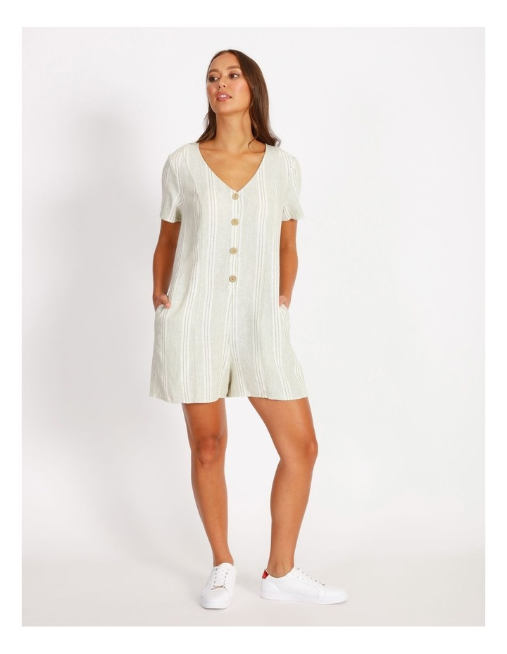 Relaxed Playsuit - Stripe image 1