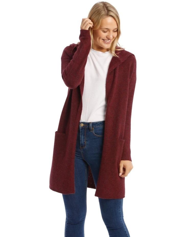 Hooded Longline Cardigan image 1