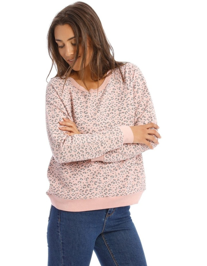 Relaxed Neck Sweat Top image 2