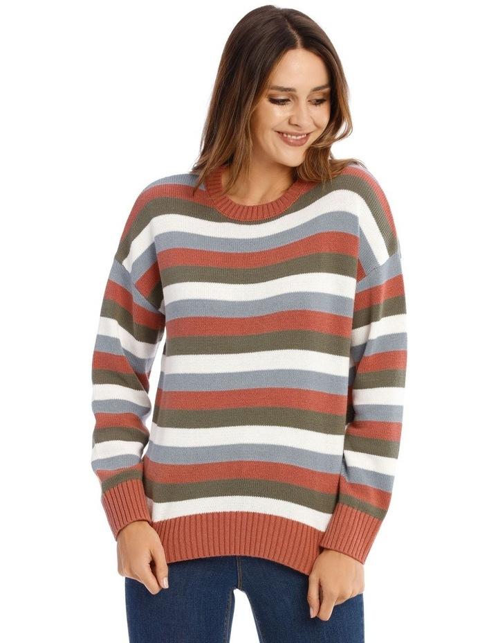Crew Neck Stripe Knit image 1