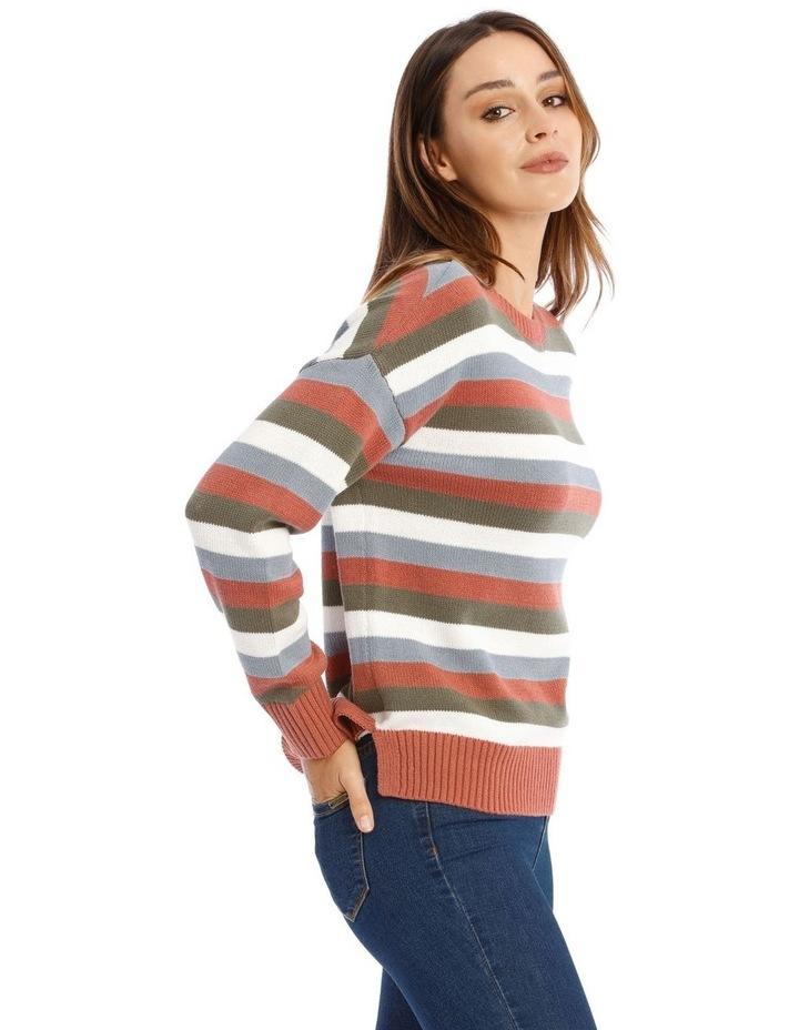 Crew Neck Stripe Knit image 2
