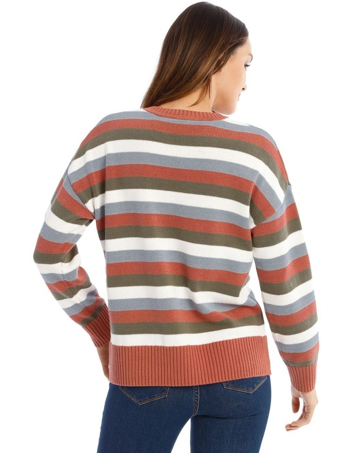 Crew Neck Stripe Knit image 3