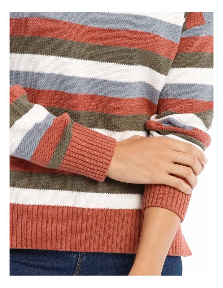 Crew Neck Stripe Knit image 4