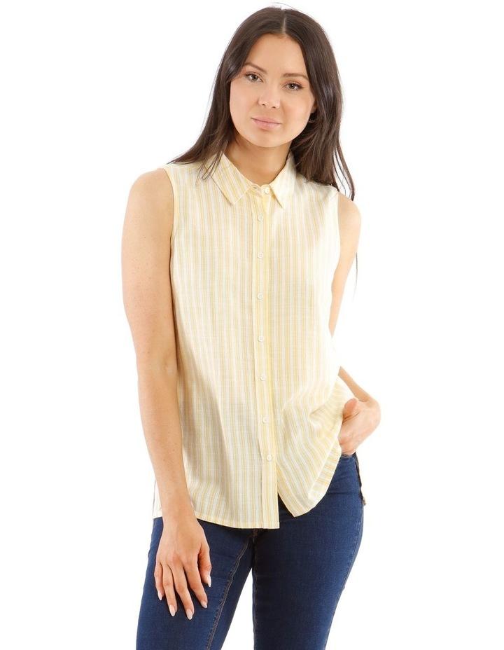 Sleeveless Button-Down Shirt image 1