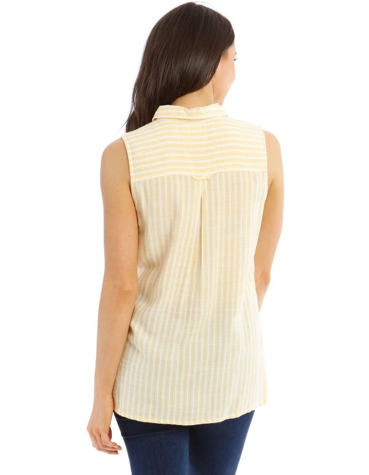 Sleeveless Button-Down Shirt image 3