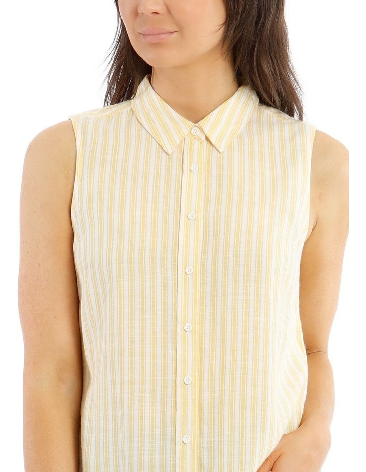 Sleeveless Button-Down Shirt image 4