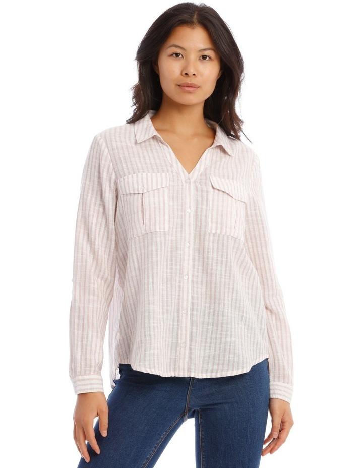 Textured Double Pocket Shirt image 1