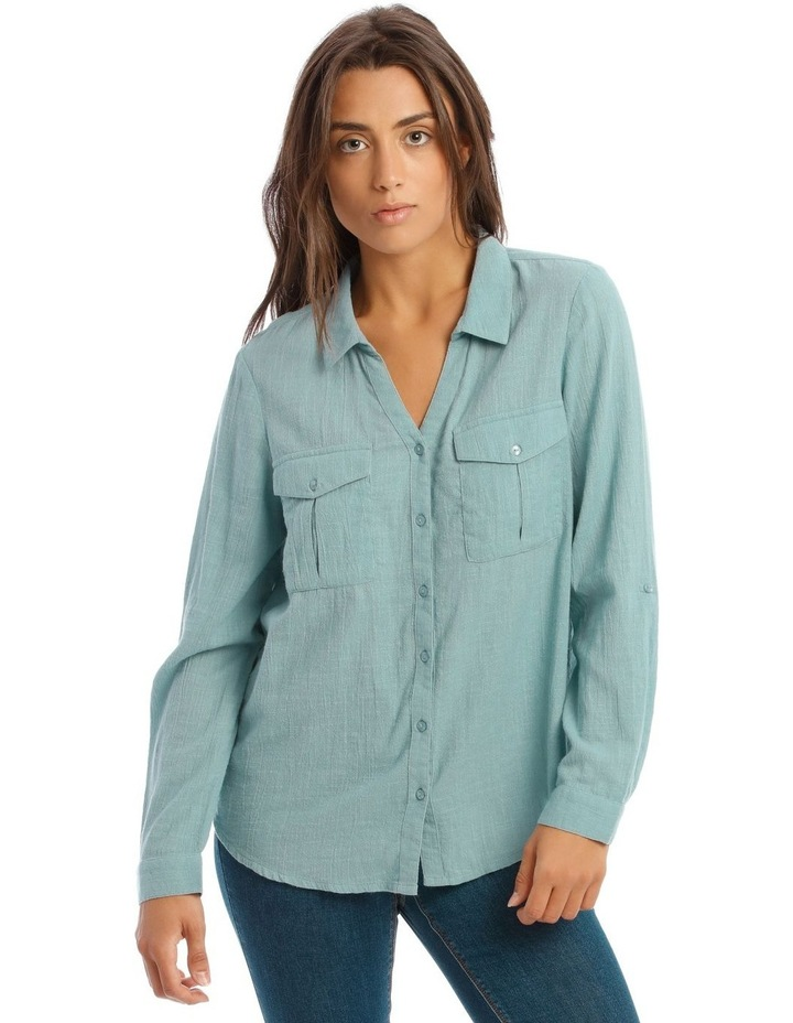 Textured Double Pocket Shirt image 1