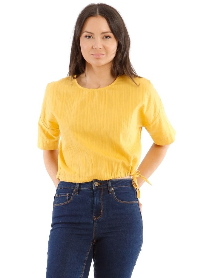 Short-Sleeve Top with Side Tie image 1