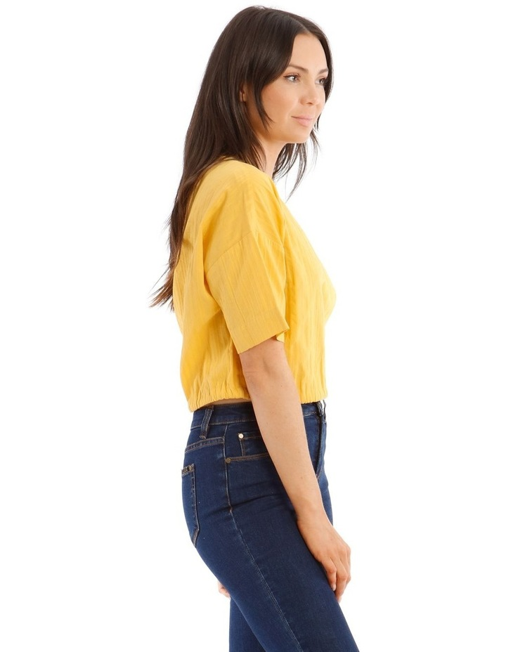 Short-Sleeve Top with Side Tie image 2