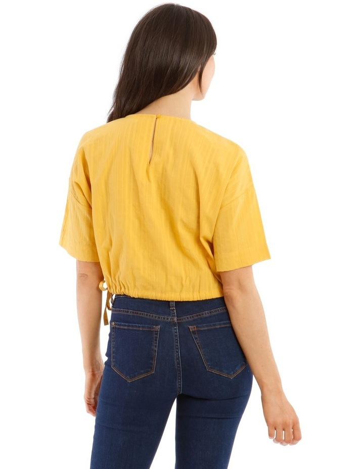 Short-Sleeve Top with Side Tie image 3