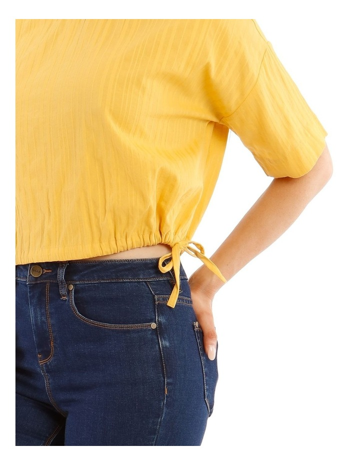 Short-Sleeve Top with Side Tie image 4