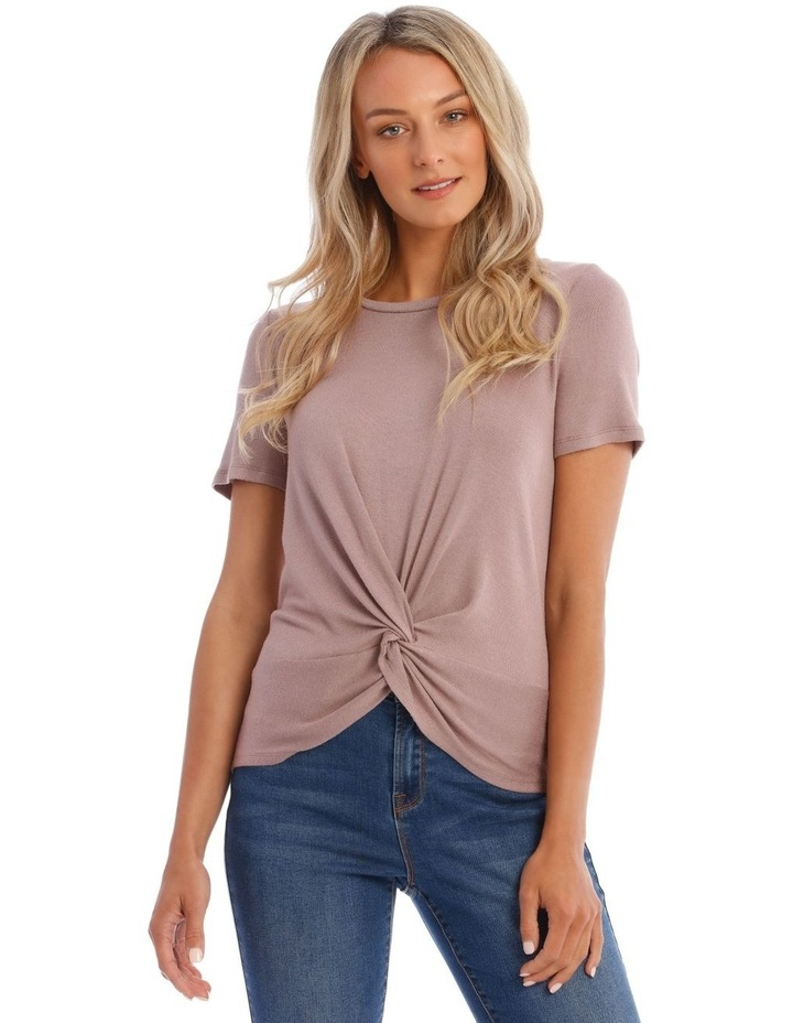 Dusty Lilac Twist Front Tee image 1