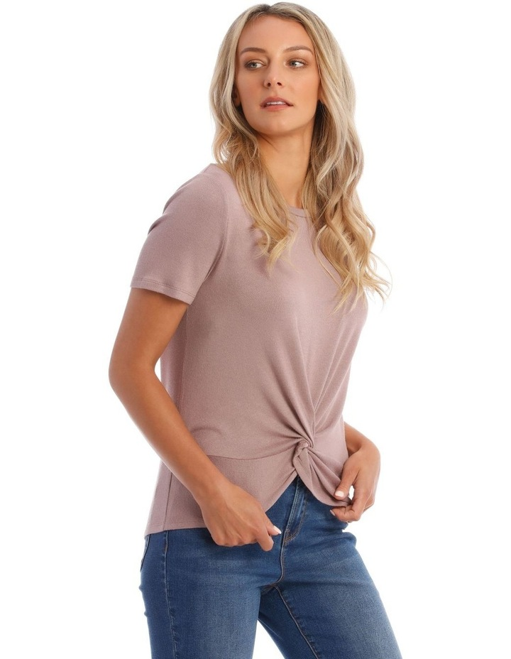 Dusty Lilac Twist Front Tee image 2