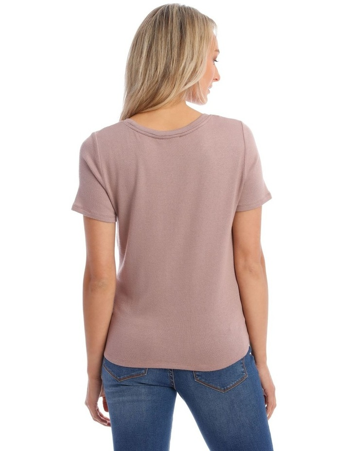Dusty Lilac Twist Front Tee image 3