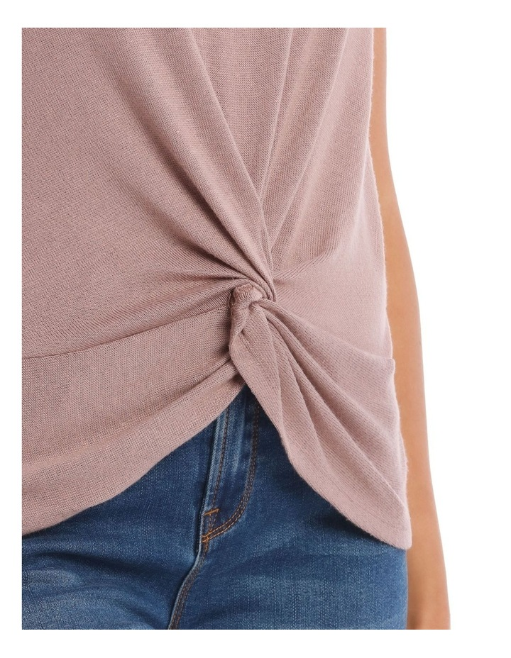 Dusty Lilac Twist Front Tee image 4