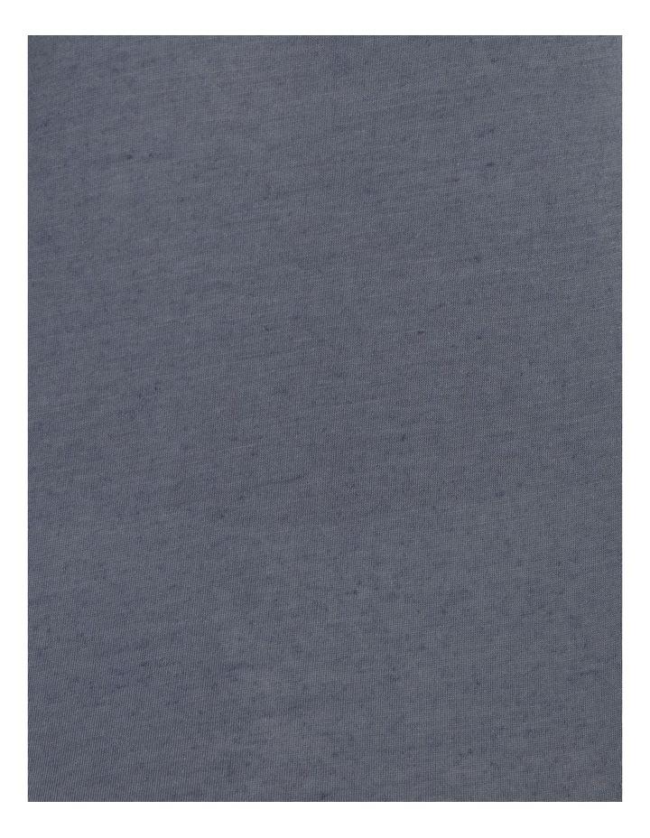 Round Neck Linen Blend Tee image 5