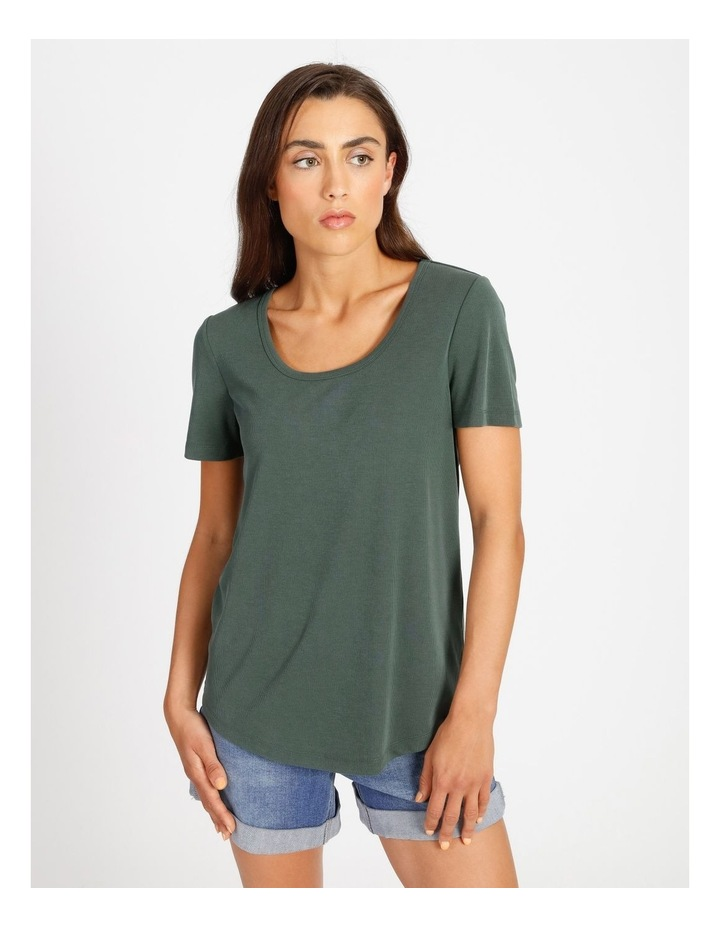 Scoop Neck Rib Tee image 1
