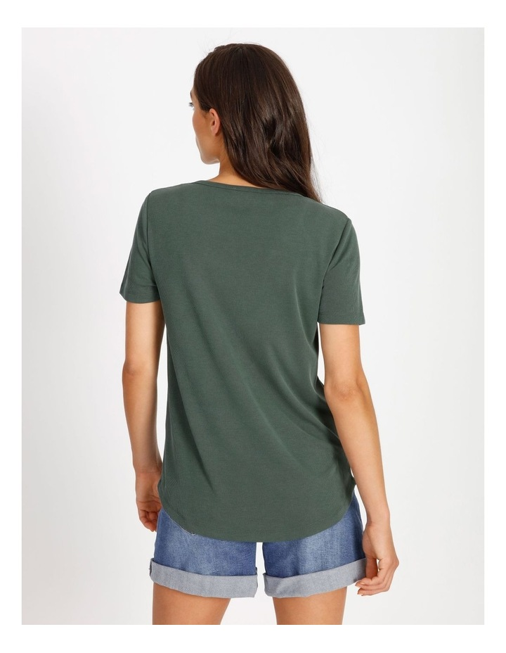 Scoop Neck Rib Tee image 3