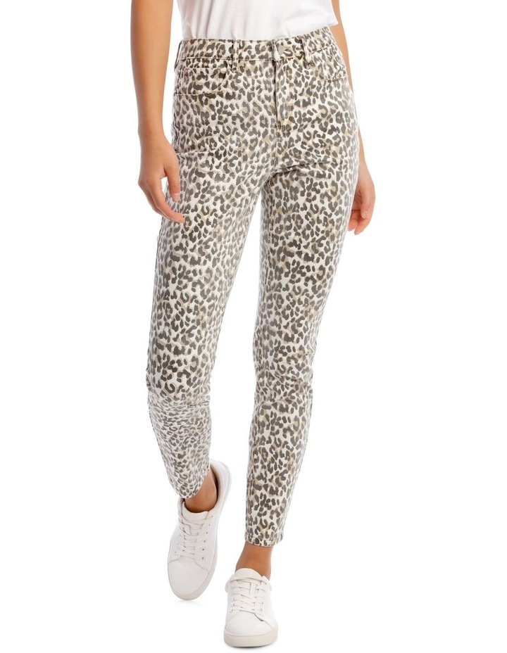 Madison High Rise Skinny Leopard Jeans image 1