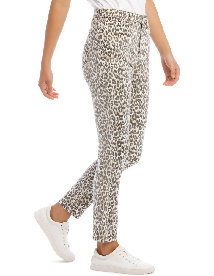 Madison High Rise Skinny Leopard Jeans image 2