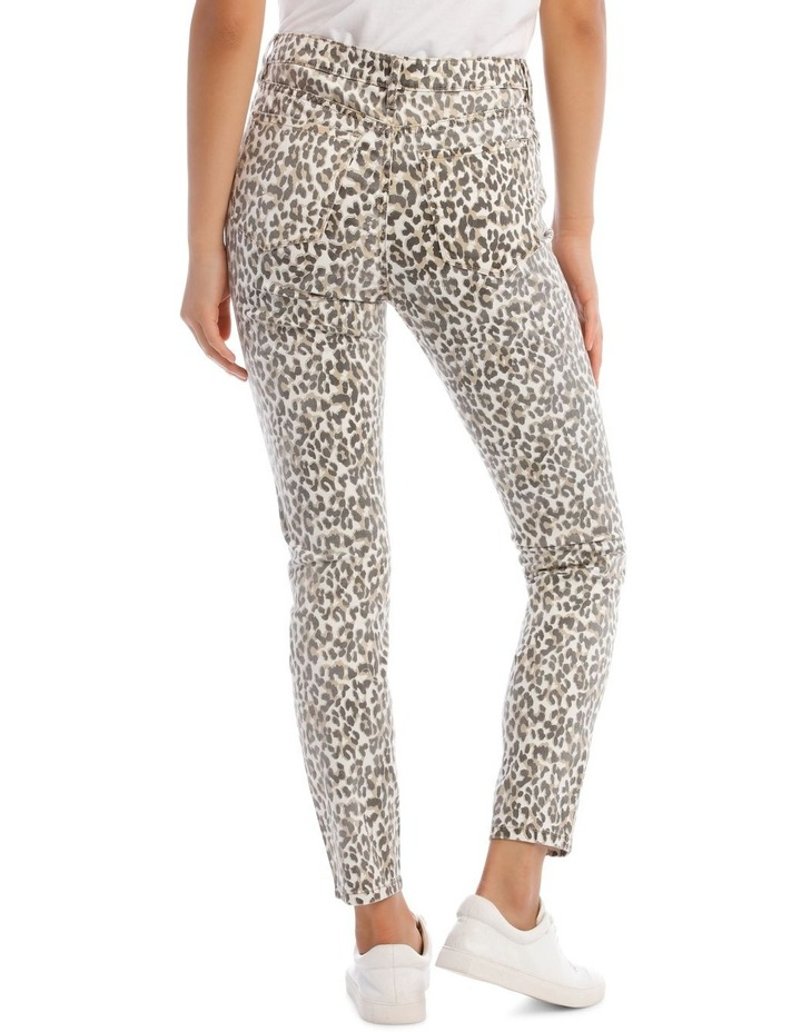 Madison High Rise Skinny Leopard Jeans image 3