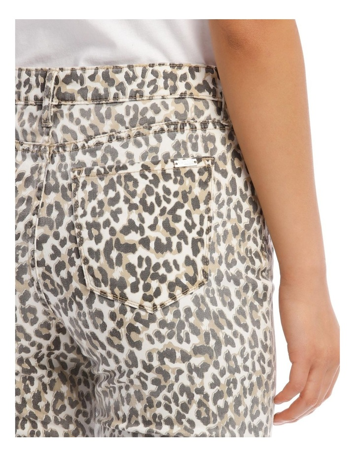 Madison High Rise Skinny Leopard Jeans image 4