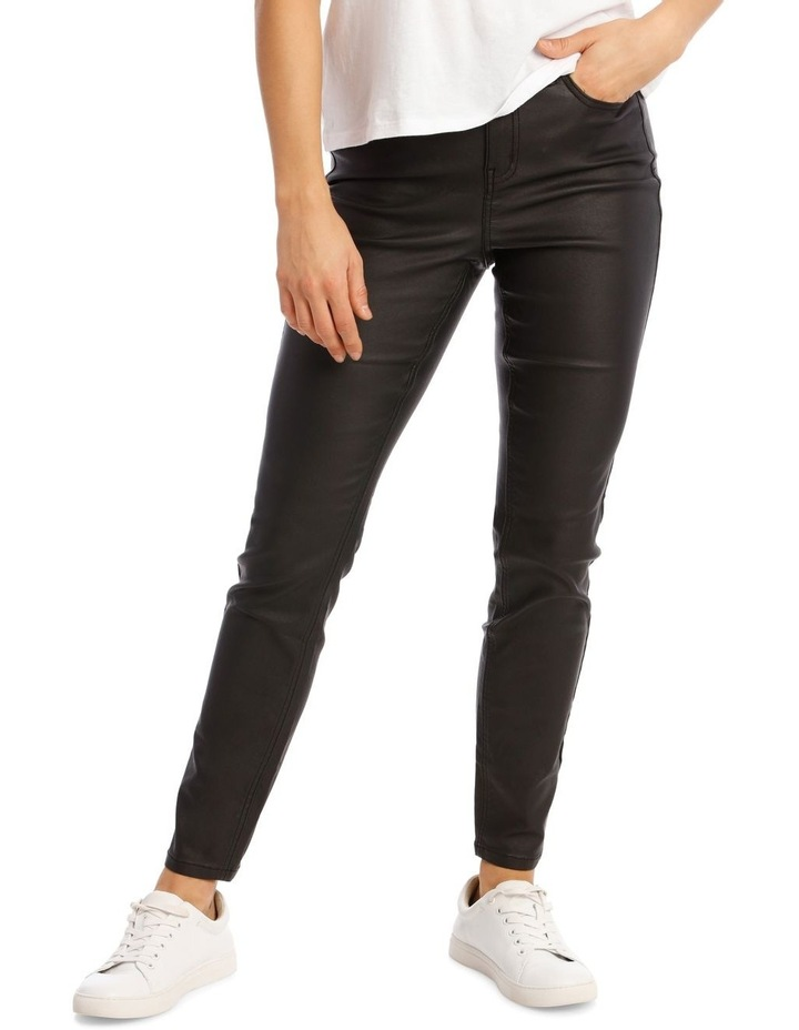 Coated High Waist Skinny Jean image 1
