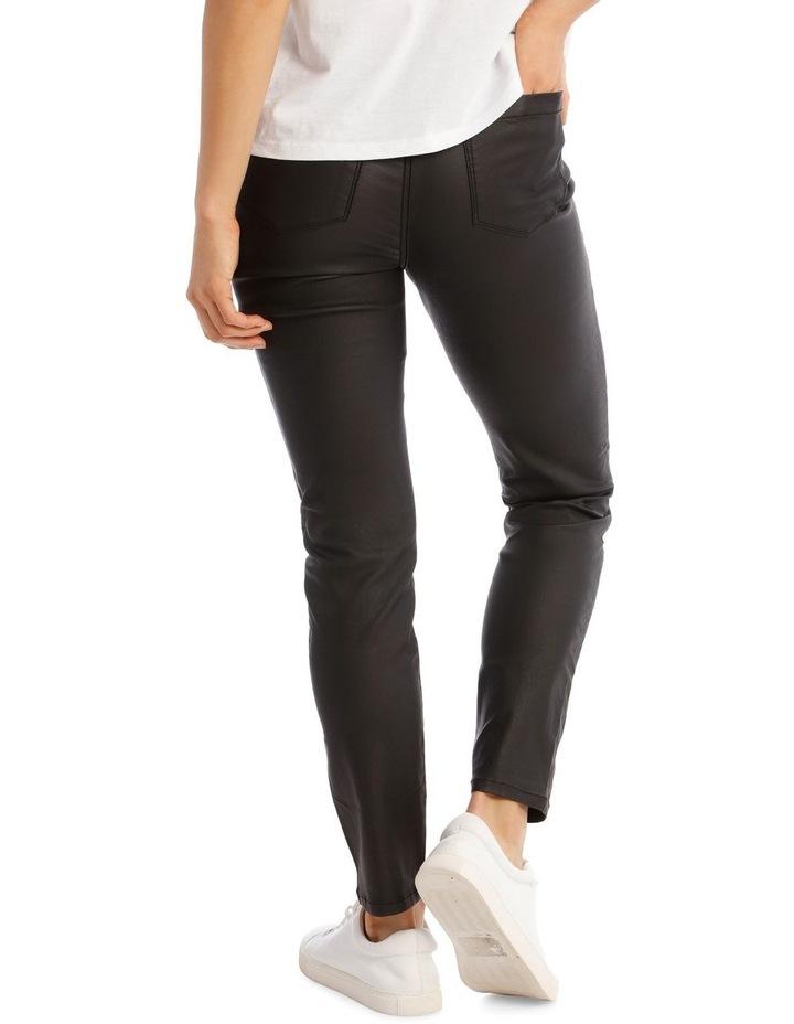 Coated High Waist Skinny Jean image 3