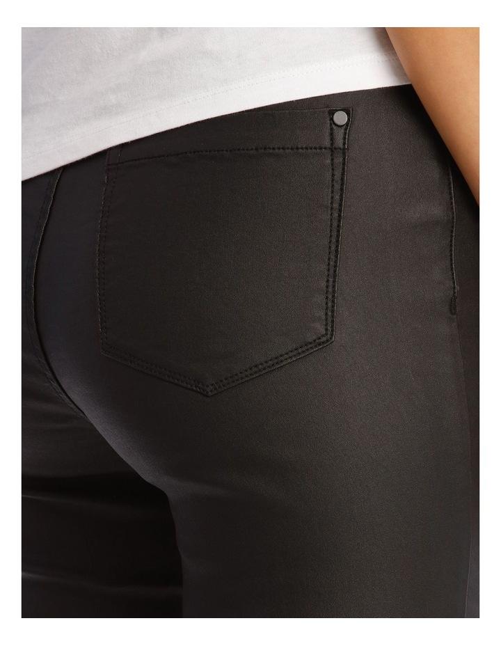 Coated High Waist Skinny Jean image 4