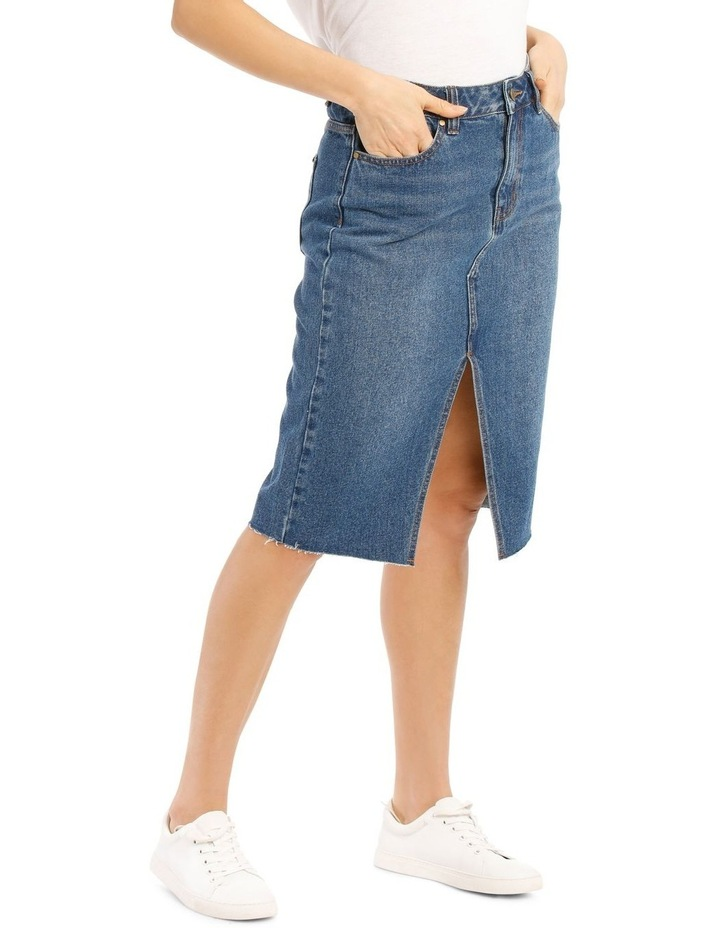 Denim Midi Skirt image 2