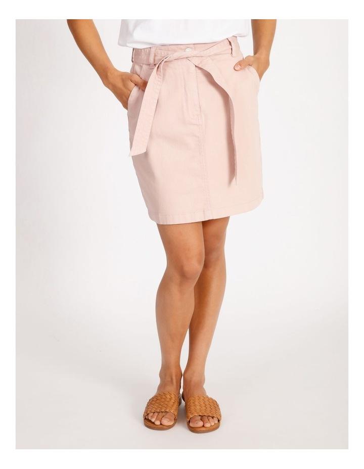Tie Waist Denim Skirt image 1