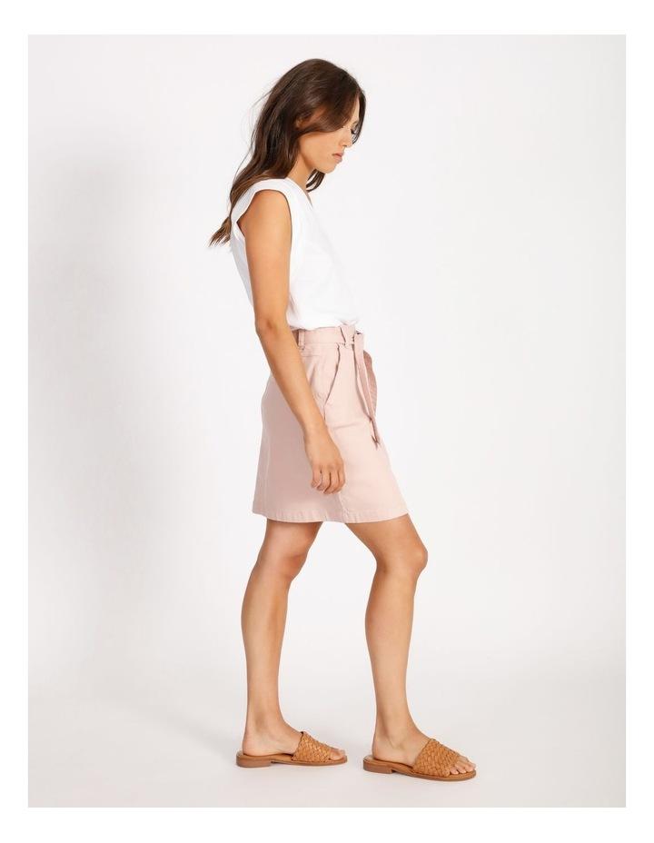 Tie Waist Denim Skirt image 2