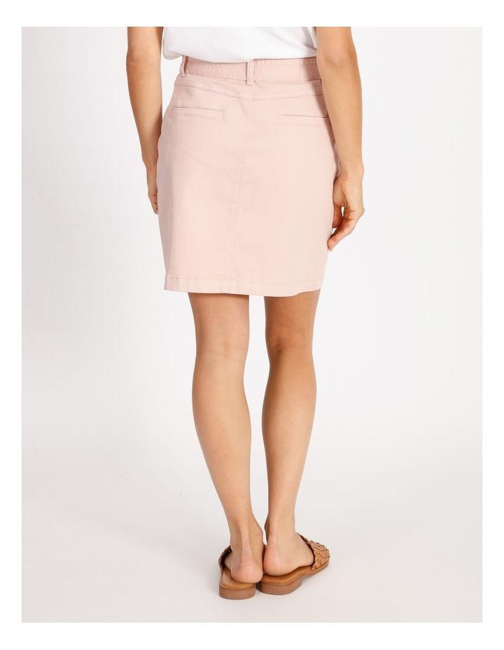 Tie Waist Denim Skirt image 3