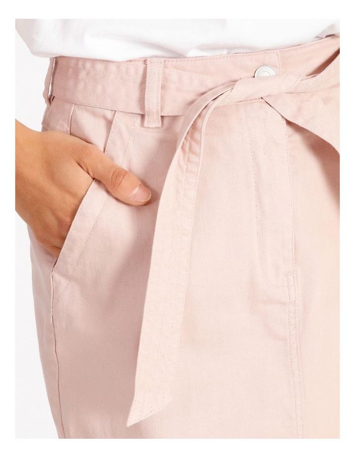 Tie Waist Denim Skirt image 4