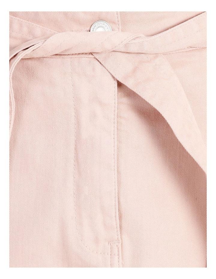 Tie Waist Denim Skirt image 5