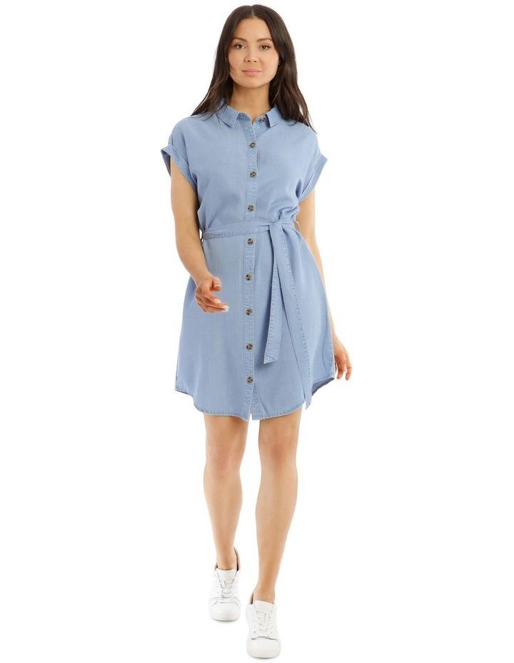 Chambray Shirt Dress image 1