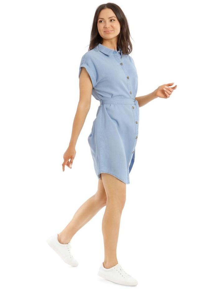 Chambray Shirt Dress image 2